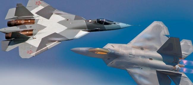 Американский F-22 RAPTOR против Российского ПАК ФА