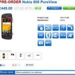 Nokia 808 PureView обойдется в около 650 евро в Великобритании