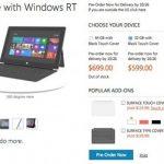 Стали известны цены на планшет Microsoft Surface